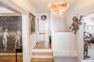 stairs, wood floors, white, bright, wood work, rossman avenue, craftsman home in hudson ny, for sale, hudson, new york, nicole vidor, real estate, realtor, homes for sale, houses for sale