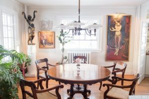 dining room, large, airy, wood floors, white, bright, wood work, rossman avenue, craftsman home in hudson ny, for sale, hudson, new york, nicole vidor, real estate, realtor, homes for sale, houses for sale