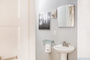 bathroom, beaded board, bright, wood work, rossman avenue, craftsman home in hudson ny, for sale, hudson, new york, nicole vidor, real estate, realtor, homes for sale, houses for sale