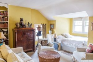 bedroom, yellow, bright, windows, light, rossman avenue, craftsman home in hudson ny, for sale, hudson, new york, nicole vidor, real estate, realtor, homes for sale, houses for sale