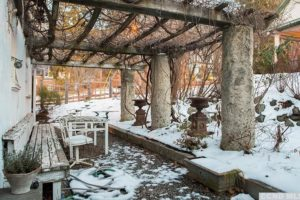 gardnes, pergola, bench, vines, mature growth, rossman avenue, craftsman home in hudson ny, for sale, hudson, new york, nicole vidor, real estate, realtor, homes for sale, houses for sale