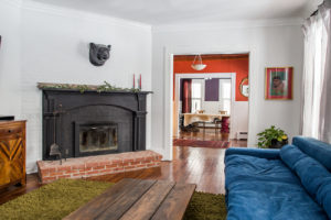 farmhouse, living room, fireplace, catskill, durham, ny, new york, for sale, nicole vidor, real estate, realtor