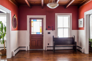 farmhouse, entry, hard wood floors, catskill, durham, ny, new york, for sale, nicole vidor, real estate, realtor