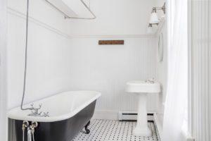 farmhouse, bathroom, clawfoot tub, tub, catskill, durham, ny, new york, for sale, nicole vidor, real estate, realtor