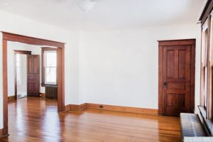 living room, wood floors, white, bright, renovated, apartment in hudson ny, new york, columbia county, for rent, nicole vidor, realtor, real estate, rental