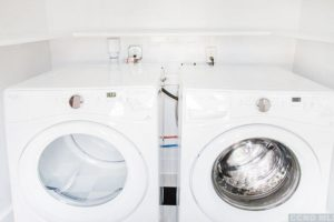 laundry, washing machine, dryer, white, bright, renovated, apartment in hudson ny, new york, columbia county, for rent, nicole vidor, realtor, real estate, rental
