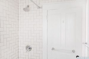 bathroom, tile, white, renovated, apartment in hudson ny, new york, columbia county, for rent, nicole vidor, realtor, real estate, rental