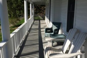 farmhouse summer rental, wrap around porch, outside, saugerties, new york, ny, catskill, private, for rent, rental, nicole vidor, real estate, realtor
