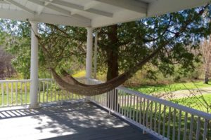 farmhouse summer rental, outside, wrap around porch, hammock, saugerties, new york, ny, catskill, private, for rent, rental, nicole vidor, real estate, realtor