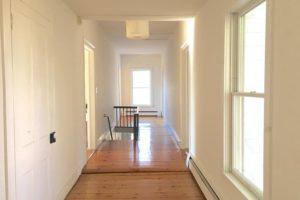 farmhouse summer rental, hall way, wood floors, saugerties, new york, ny, catskill, for rent, rental, nicole vidor, real estate, realtor