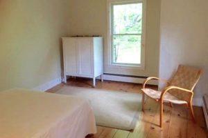 farmhouse summer rental, bedroom, wood floors, saugerties, new york, ny, catskill, for rent, rental, nicole vidor, real estate, realtor
