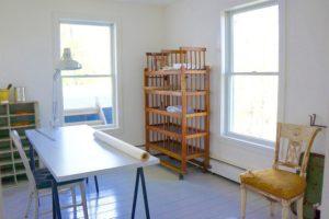 farmhouse summer rental, studio, wood floors, large windows, saugerties, new york, ny, catskill, for rent, rental, nicole vidor, real estate, realtor