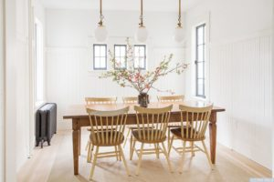 dining room, wood floors, white, bright, large windows, worth avenue, hudson, new york, ny, nicole vidor, real estate, realtor, home for sale, house for sale, hudson ny home with views