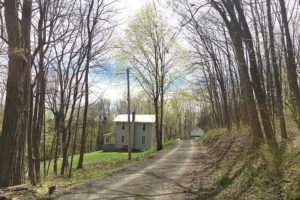 2 bedroom, charming, driveway, tree lined, outside, metal roof, clapboard, home for sale, house, Nicole Vidor, real estate, realtor,