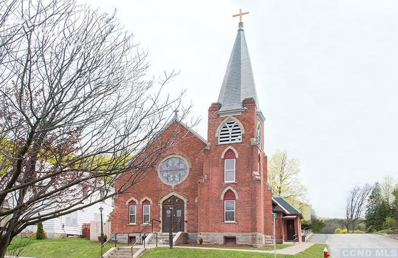 converted church, renovated, brick, stained glass, philmont, new york, ny, for sale, home, house, nicole vidor, real estate, realtor