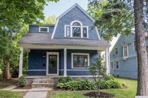 Renovated home, exterior, cedar shakes, mature trees, catskill, new york, nicole vidor, real estate, realtor