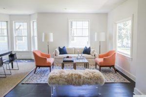 Renovated home, large windows, dark wood floors, living room, catskill, new york, nicole vidor, real estate, realtor
