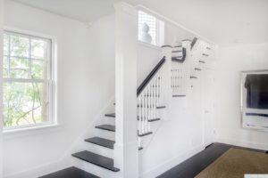 Renovated home, multi paned window, stairs, dark wood floors, dining room, catskill, new york, nicole vidor, real estate, realtor