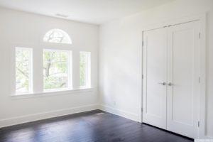 Renovated home, large windows, dark wood floors, bedroom, closet, catskill, new york, nicole vidor, real estate, realtor