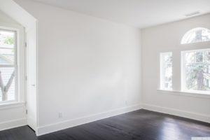 Renovated home, large windows, dark wood floors, bedroom, catskill, new york, nicole vidor, real estate, realtor