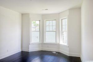 Renovated home, bay window, dark wood floors, bedroom, catskill, new york, nicole vidor, real estate, realtor