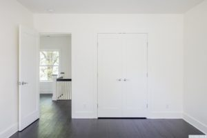 Renovated home, dark wood floors, bedroom, closet, catskill, new york, nicole vidor, real estate, realtor