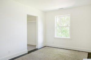 Renovated home, dark wood floors, bedroom, catskill, new york, nicole vidor, real estate, realtor