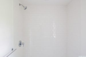 Renovated home, bathroom, walk in shower, subway tile, catskill, new york, nicole vidor, real estate, realtor