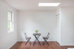 Cottage, eat in kitchen, skylight, wood floor, stairs, hudson, new york, nicole vidor, real estate, realtor