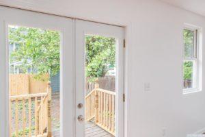 Cottage, kitchen, patio doors, glass, deck, back yard, hudson, new york, nicole vidor, real estate, realtor