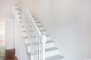 Cottage, curved stairs, dinning room, living room, wood floor, hudson, new york, nicole vidor, real estate, realtor