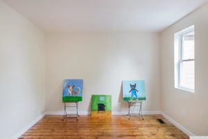 Cottage, bedroom, large window, wood floor, hudson, new york, nicole vidor, real estate, realtor