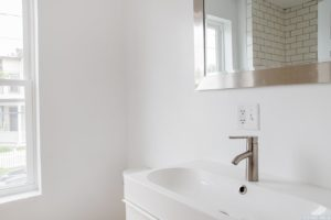 Cottage, bathroom, trough sink, hudson, new york, nicole vidor, real estate, realtor