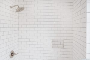 Cottage, bathroom, walk in shower, subway tile, hudson, new york, nicole vidor, real estate, realtor