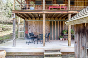 Milkweed Barn, Converted Barn, exterior double porches, wood siding, nicole vidor, real estate, realtor
