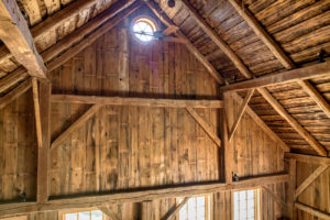 Milkweed Barn, Converted Barn, vaulted ceilings, exposed beams, wood, nicole vidor, real estate, realtor