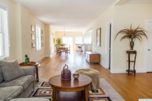 brand new home, interior, wood floors, living room, open layout, nicole vidor, realtor, real estate
