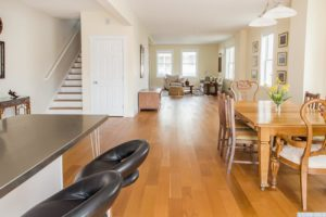 brand new home, interior, wood floors, open layout, dining room, nicole vidor, realtor, real estate