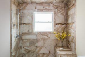 brand new home, bathroom, walk in shower, tile, bright, nicole vidor, real estate, realtor