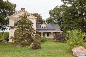 country farmhouse, exterior, clapboard siding, porch, for rent, nicole vidor, real estate, realtor
