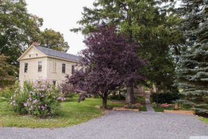 country farmhouse, exterior, clapboard siding, driveway, parking, for rent, nicole vidor, real estate, realtor