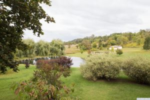 country farmhouse, outside, views, deck, pond, mature trees, for rent, nicole vidor, real estate, realtor