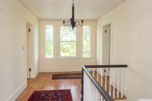 country farmhouse, interior, hallway, large windows, wood floors, for rent, nicole vidor, real estate, realtor