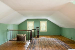 country farmhouse, interior, attic space, staircase, wood floors, for rent, nicole vidor, real estate, realtor