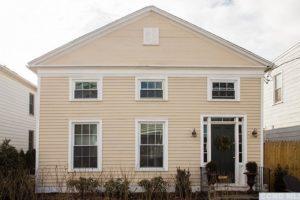 hudson ny apartment, exterior, clapboard siding, nicole vidor, real estate, realtor