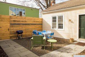 hudson ny apartment, patio, paved walkway
