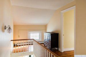 hudson ny apartment, landing, staircase