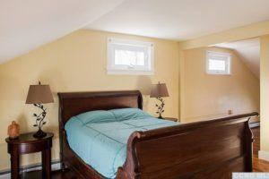 hudson ny apartment, upstairs bedroom, en suite bathroom, wood floors
