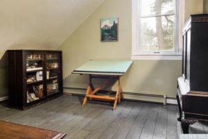 bungalow, second floor, workspace, window, wood floors, nicole vidor, real estate, realtor