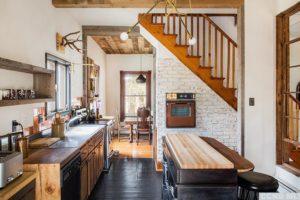 bungalow, kitchen, butcher-block island, dining room, wood floors, nicole vidor, real estate, realtor